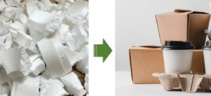 Use of recycled styrene